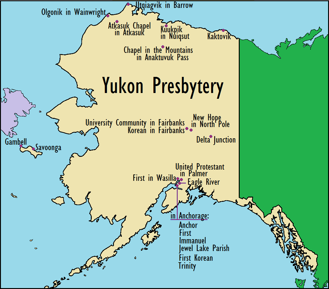 Presbytery Of Yukon Map